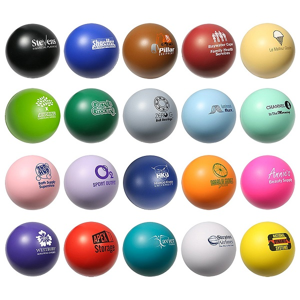 Personalized Stress Balls Custom Printed with Your Logo or Message